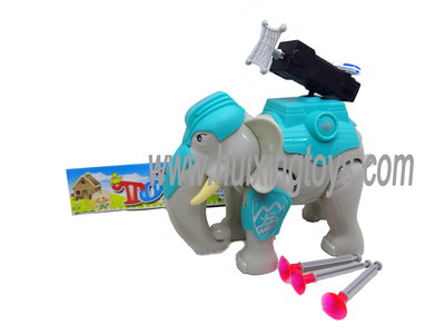 B/O ELEPHANT WITH LIGHT WITH MUSIC WITH CATAPULT